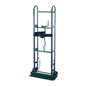 Appliance Hand Truck 800 Lbs Capacity Moving Dolly Cart Load Strap Steel Green