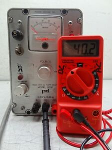 Power Designs Inc Model 5015t Regulated Dc Power Source Power Supply read