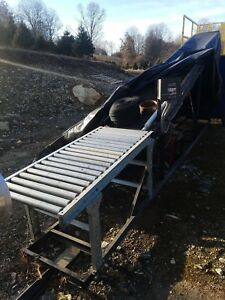 Incline Belt Conveyor 16 Long W Variable Speed Control Roller Table Portable