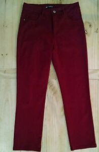 Women's Lee Jeans Red Classic Fit size 10 Petite embellished pockets NWOT