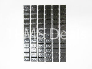 Black Stick On Adhesive Wheel Balancing Weights 6 strips For Car