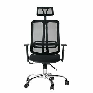 Cctro Mesh Ergonomic Office Chair With Adjustable Headrest And Armrest 360