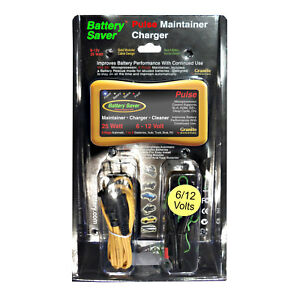Battery Saver 6 12 Volt Battery Charger Maintainer Pulse Cleaner 25 Watt