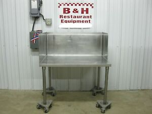 38 Stainless Steel Equipment Griddle Fryer Mixer Stand Table Side Splash 3 2
