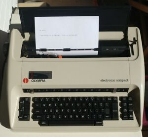 Vintage Typewriter Olympia Electric Compact Typewriter W Cover
