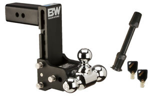 B w Tow And Stow Ball Mount Bundle 5 Drop 5 1 2 Rise Tri ball Ts20049b