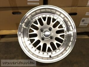 Lm20 Style 15 Wheels Rims Big Lip Dish 4x100 Aggressive Fitment Silver