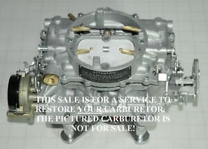 1963 64 Your Supercharged Studebaker Carter Afb 3507s 3725s Carburetor Restored