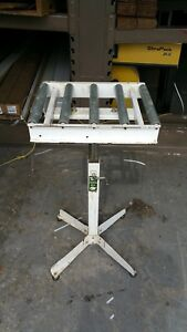 Htc 15 5 roller Table Stand Portable Conveyor Adjustable Height Heavy Duty