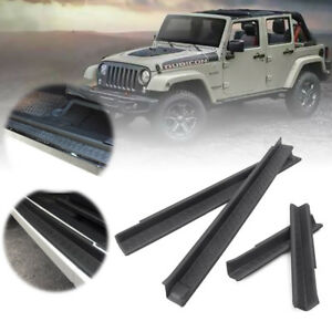 Door Sill Protector Scuff Plate Entry Guards For 2007 2017 Jeep Wrangler Jk 4