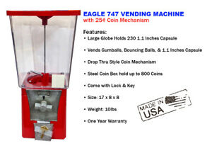 Eagle 747 Capsule Toy Gumball Vending Machine With One Year Warranty new
