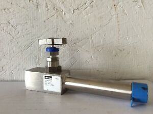 Parker Needle Valve 1 2 Male Npt X 1 2 Female Npt 6000 Psi Ss Extended Inlet