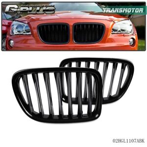 For Bmw E84 X1 4 door 2010 2014 Front Bumper Kidney Grille Glossy Black