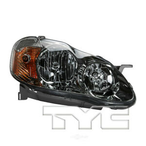 Headlight Assembly nsf Certified Right Tyc Fits 03 04 Toyota Corolla