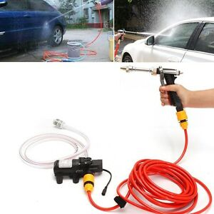 Portable Water Pump 12v 70w High Pressure Wash Washer Self priming Car Electric