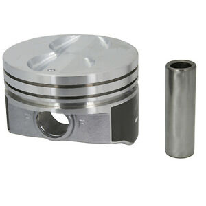 Speed Pro Small Block Chevy Flat Top Coated Pistons 020 Bore H345dcp20 350 Set