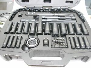 Husky 60 Pc 1 4 3 8 Dr 12 Pt Sae Mm Std Dp Socket Set