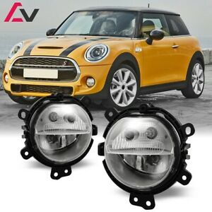 15 19 For Mini Cooper Clear Lens Pair Bumper Fog Light Lamp Dot Oe Replacement