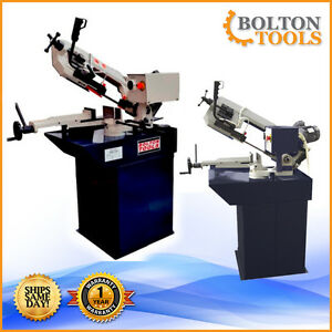 Bolton Tools 6 X 7 7 8 Horizontal Bandsaw Swivel Mast Metal Cutting Bs 215g