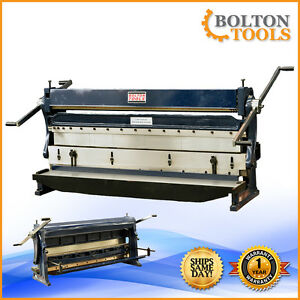Bolton Tools 52 20 Gauge 3 In 1 Sheet Metal Machine Shear Brake Sbr5220