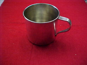 Plate Silver Tone Baby Cup Wm Rogers Stamped Is 1942