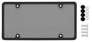 Car Clear Tinted Smoked Tag License Plate Shield Cover Frame