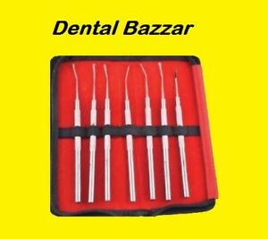 Dental Instruments Tools Sub Gingival Scalers S 7 Kit With Pouch Sgsp7 Perfectly
