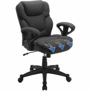 Serta Gray Mesh Fabric Big And Tall Manager Chair Computer Office Desk Back High