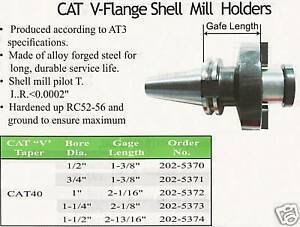 Cat40 Shell Mill Holder For Cnc Machine Arbor 3 4