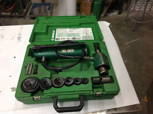 Greenlee 7306sb Slug Buster Hydraulic Knockout Set 1 2 Thru 2 Conduit Lot 2