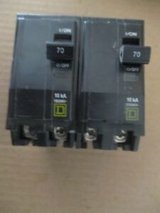 2 new Square D Qo270 2 Pole 70 Amp 120 240 Volt Qo Breaker Plug In Fits Nqod