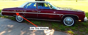 Nos Chevrolet 1976 Caprice Rear Quarter Molding Rh 4 Door Cars 2 16