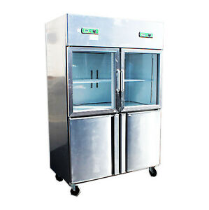 4 Door Commercial Cooler Freezer Refrigerator Reach In Restaurant Equipment