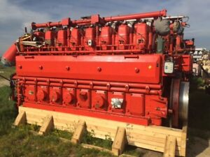 Waukesha Model 8lat27gl Natural Gas Engine S n C 80393 01