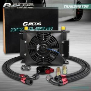 Gplus Universal 30 Row An10 Engine Transmission Oil Cooler 7 Electric Fan Kit