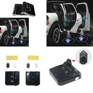2pc Led Light Car Door Projector Laser Lamp Ford Logo Mustang American Classic
