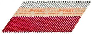 Angled Wood Framing Nails Paper Tape Collated Clipped Head Galvanized Fastener