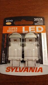 Sylvania Zevo Super Bright Amber Orange Led 3157 6000k Fit 3457 4157 New