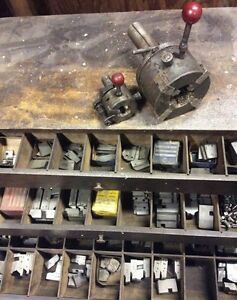 Geometric Die Head Heads With 4 Drawers Of Dies Lathe