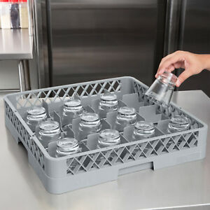2 Pack Commercial Dishwasher Machine 16 Cup Glass Tray Rack Automatic Plastic
