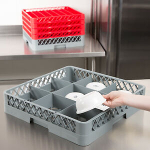 2 Pack Commercial Dishwasher Machine 9 Cup Glass Bowl Tray Rack Decanter Pitcher
