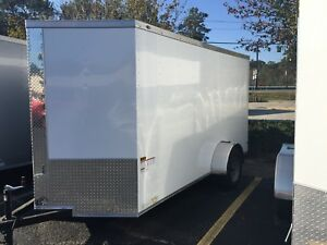 New 6x12 Enclosed Trailer Cargo V nose Utility Motorcycle Lawn 10 Landcape