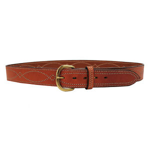 Bianchi 44 B9 Fancy Stitched Belt Tan Finish 12299