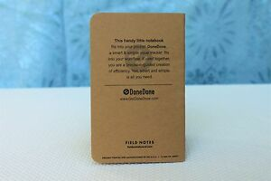 Field Notes Donedone Edition Notebook
