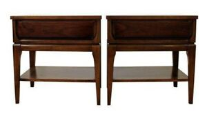 Pair Of Mid Century Danish Modern Walnut Nightstands By Williams Furniture 21