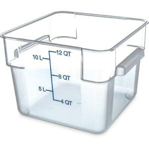 Carlisle Food Storage Container Box 12 Qt Clear 1072407 Case Of 6