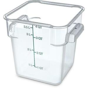 Carlisle Food Storage Container Box 4 Qt Clear 1072107 Case Of 6