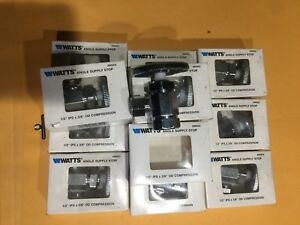 12 Pc Angle Stop Valve 1 2 Ips X 3 8 Od Comp By Watts