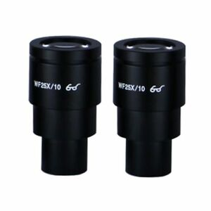 Wf 25x Widefield Microscope Eyepieces High Eyepoint 30mm Fov 10mm pair