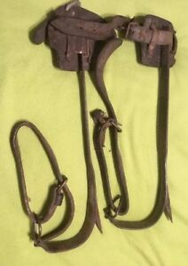 Vintage 1939 Telephone Pole Climbing Spikes M Klein Sons